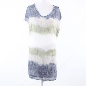 Velvet gray cap sleeve shift dress S